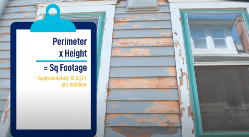 calculate painting cost of window frame